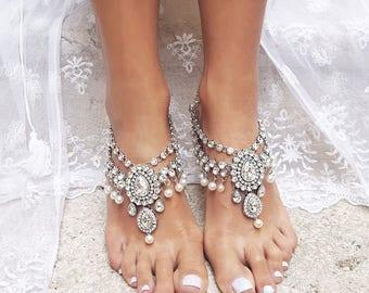 Barefoot Sandals Beach Wedding Sandal Destination Foot Jewelry