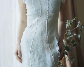 Womens Autumn Dress, Oversized Dress, silk Dress, Plus Size Dress, Knee Length Dress, Pleated Dress, Light Dress, Pastel Dress