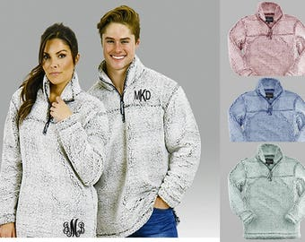 Monogrammed Frosty Sherpa Pullover - 4 colors - Adult and Youth Sizes