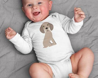 Baby boy clothes, Weimaraner baby bodysuit, coming home outfit, baby shower gift