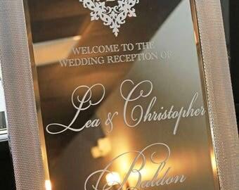 Welcome Wedding Mirror Vinyl Decal Wedding Welcome Sign