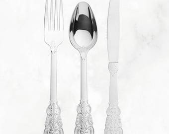 Silver Disposable Cutlery, Disposable Silver Flatware