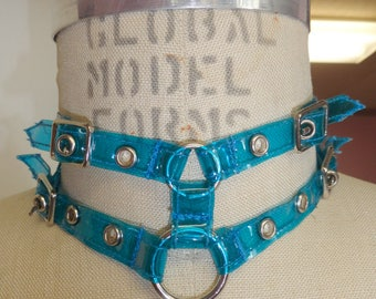 Blue Clear Buckle Choker (Artifice photoshoot sample)