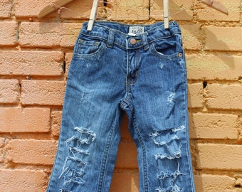 Distressed Jeans 3T Toddler Girls Ripped Jeans Trendy Kids Clothes Girls Jeans Toddler Jeans Edgy Kids Clothes Ripped Baby Jeans Denim