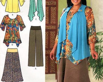 Simplicity 2195 - Misses'/ Women's Tunic or Top, Pants, Skirt and Knit Vest - Khaliah Ali Collection