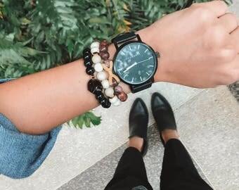 Stacking Bracelets,  Gemstone Bracelet Set, Build Your Own Bracelet Stack, Custom Bracelet Set Custom Bracelet, Gemstone Tassel Bracelet