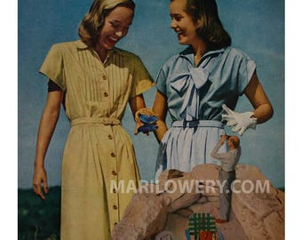 One of a Kind Retro Paper Collage of Two Women with Butterfly,  9 7/8 x 10 1/4 inch OOaK Unusual Wall Art
