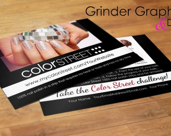 Color Street Challenge Card Personalized 4x6