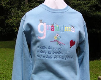 Grandma, A little Bit...-Ladies' Grandma Sweatshirt