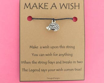 Hedgehog Wish String Friendship Bracelet Cord Band Charm Karma Wishes Magical Amulet Designed and Made by Kate Dengra Spain
