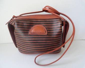 Vintage PERRY ELLIS PORTFOLIO Leather Shoulder Bag Perry Ellis Leather Handbag Perry Ellis Travel Handbag Purses for Women Brown Leather Bag