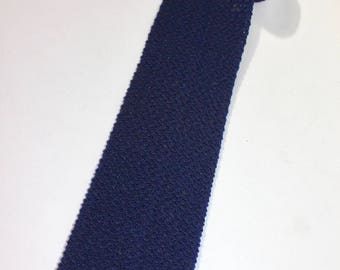 "vintage 60's - 70's -Philadelpia retailer- Men's knit neck tie. Navy Blue - unknown material. 3 3/8"" width."