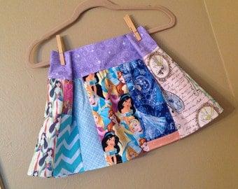 Every Princess skirt- 5t, 6, 6x maybe 7- ready to ship - Mulan, Cinderella, Disney, Snow White,