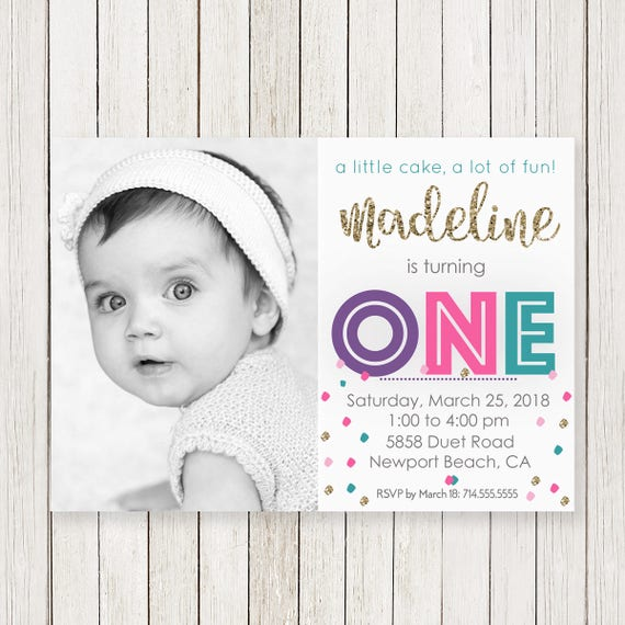 First birthday invitations girl girls 1st birthday invite girl