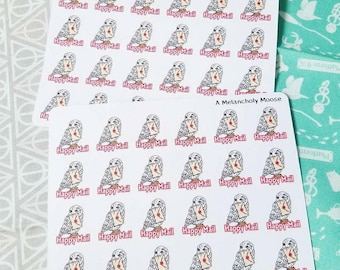 Hedwig's Happy Mail~ Hand Drawn, Happy Mail Tracking Planner Stickers