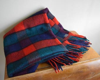 Vintage Plaid Pendleton Wool Throw Blanket - Rustic, Farmhouse, Outdoors