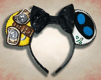 Trash Robot Mouse Ear Headband with Bow