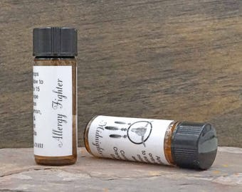 Allergy Fighter Essential Oil Blend Aromatherapy Diffuser Jewelry Oil