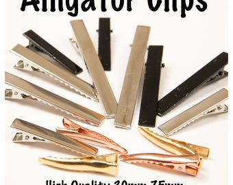 Pack of 10 - Alligator Clips, High Quality, Hair Bow Making