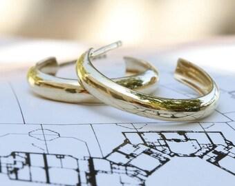 delicate gold Hoop earrings, hoop earrings, gold hoop earrings, delicate earrings, delicate gold earrings, gift for her.