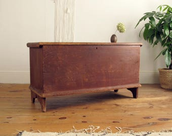 Pine Blanket Box,wood Coffee Table,hope Chest,country Primitive,wood Box