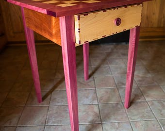 Beautiful Exotic Wood Handcrafted Mission Chess Tables Checkers Table Handmade Custom Chess Table Christmas Wedding Gift Anniversary