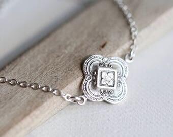 Silver Choker Necklace, Minimalist Choker, Boho Choker Necklace, Delicate Silver Choker Necklace,  Delicate silver Layering Necklace