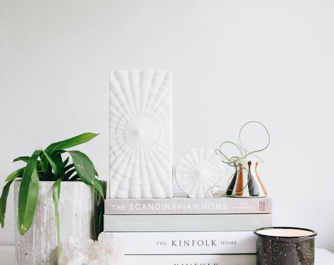 Mid Century Modern Glazed White Porcelain Vase // Scandinavian Modern Minimalist Home // Rheinpfalz Germany