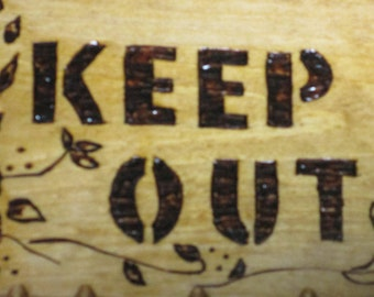 wood burned signs, pyrography, Keep out signs, , signs for girls room, butterflies, butterfly