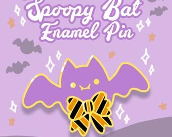 PREORDER Spoopy Bat Enamel Pin - Cute Halloween Enamel Pin