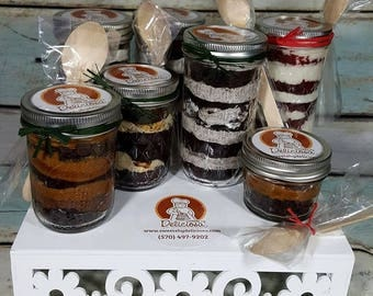 TWO (2) 8oz. cupcakes in a jar box  ***Choose from 45 flavors***