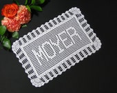 Crochet Pattern - Crochet Patterns - Personalized Name Doily Crochet Pattern #703 - Name Doily Crochet Pattern - Instant Download PDF