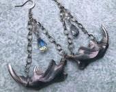 "Muskrat Jawbone Earring Set - ""Sparkle Spirit"""