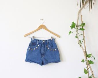 high rise studded shorts / xs
