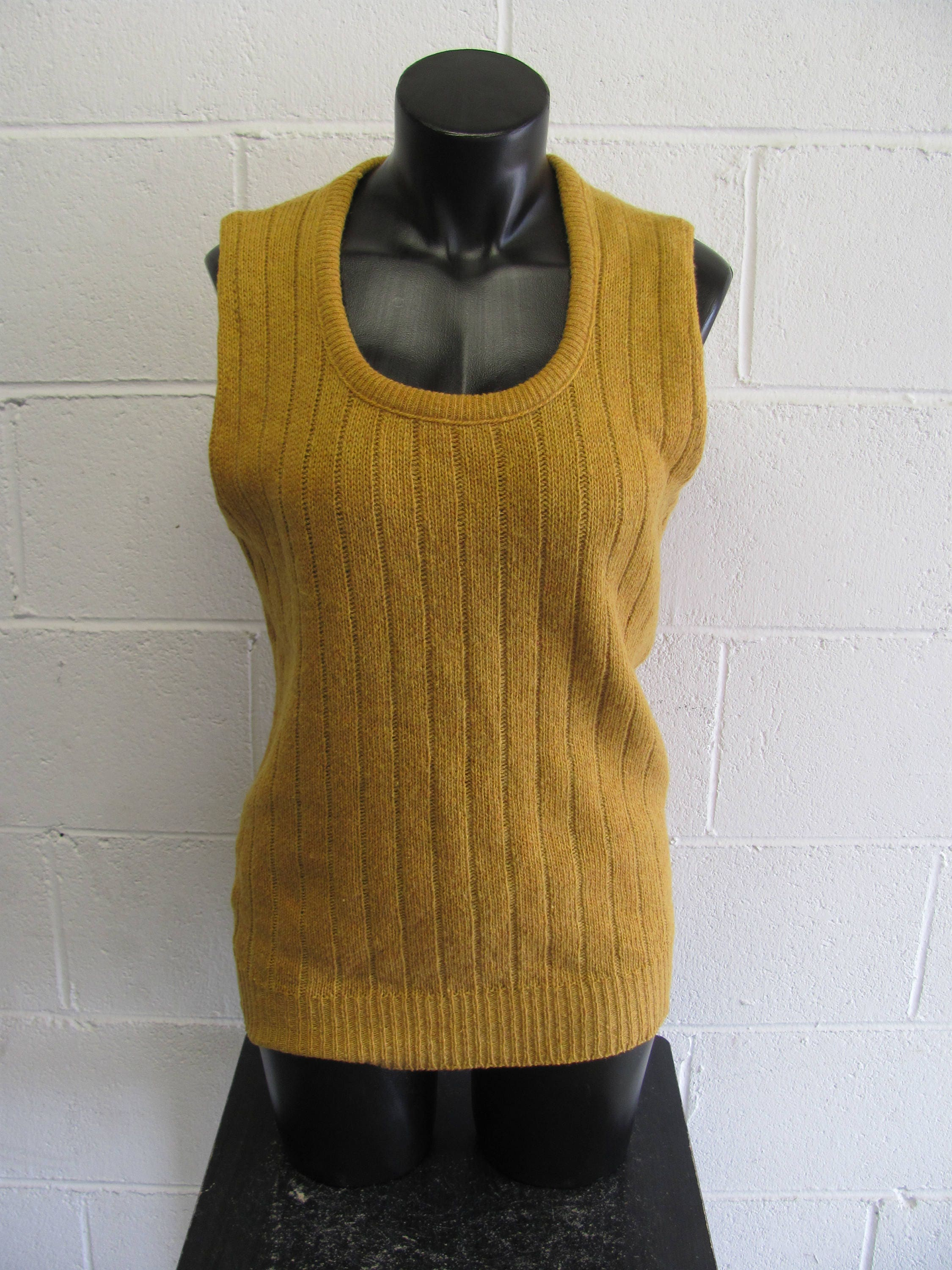 Vintage Knit Sweater Tank Top Sweater Vest Shirt Knit Tank