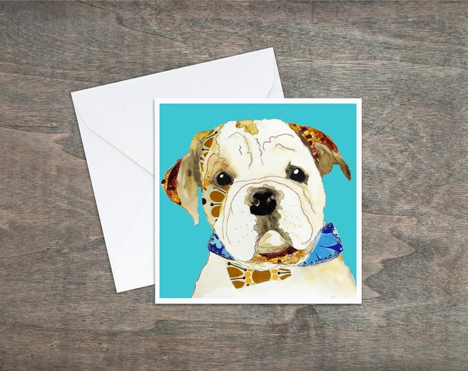 Bulldog - English Bulldog - Art Card