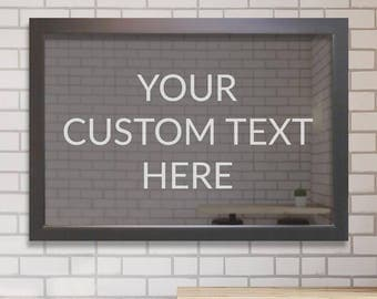 Custom Engraved Bar Mirror (Create Your Own): Custom Bar Mirror, Design Your Own Bar Mirror, Personalized Bar Mirror, Etched Bar Mirror