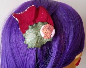 Forbidden Fruitcake Christmas Hair Clip