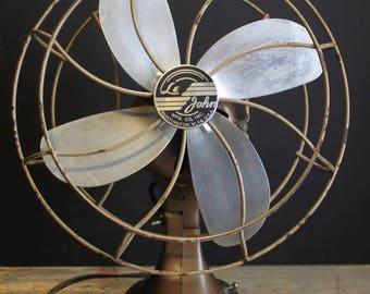 1950s Le John Tabletop Fan // Huntington West Virginia // Urban Industrial // Model 901