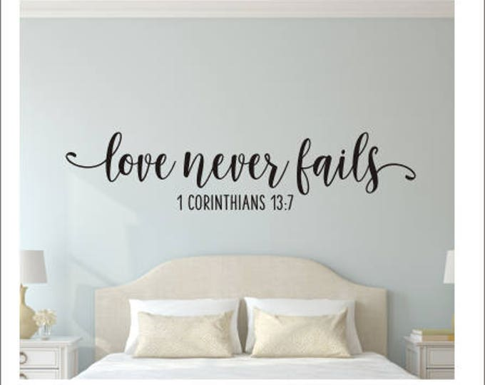 Love Never Fails Decal Bible Verse Wall Decor Wedding Sign Corinthians Vinyl Decal Love is Patient Love is Kind Love Never Fails Vinyl Sign