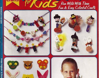 Woodlets For Kids Fun and Easy Colorful Crafts Pattern Book 3308
