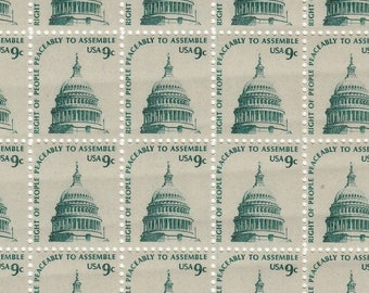 50 pieces - 1975 9 cent Capitol Dome, Washington DC - right to peacefully assemble - Vintage unused stamps - great for invitations
