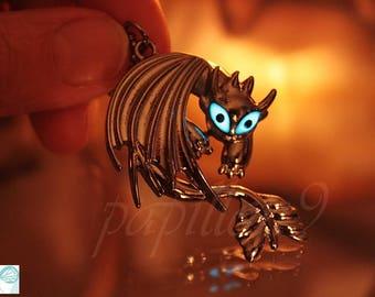 Toothless DRAGON / GLOW in the DARK / Toothless Dragon Pendant / Dragon Pendant /