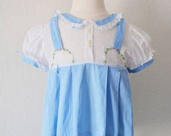 Vintage Dress Embroidery 40s 50s