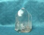 Quartz clair Gem, pilier de pierre polie, prisme de cristal de roche, baguette de pierres semi-précieuses, Semi précieux bijou sculpture obélisque
