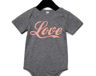 LOVE | Baby Onesies | unisex onesies | trendy baby clothing | baby girl boy | hipster baby clothing | cool baby clothing | gifts for baby