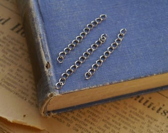 100 Antique Silver Extension Chains Dull Silver Open Link Chain 3.5 x 2.5mm (SCN3269)