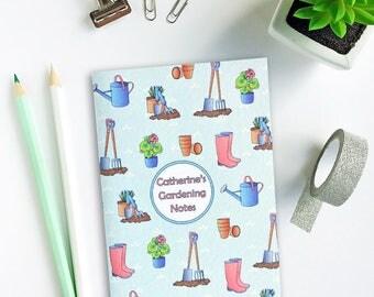 Gardener notebook - personalised gift - gift for her - mother's day, mothering sunday - gardening gift - gardening notebook - gift for him