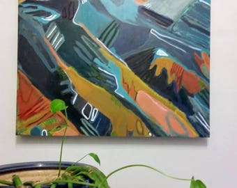 Mountain Mama// Original Painting on Wood Canvas