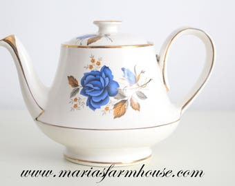 TEA POT, Vintage, English Bone China Tea Pot by Arthur Wood, Replacement China, High Tea Party, Wedding Gift Inspiration, Gifts for Her